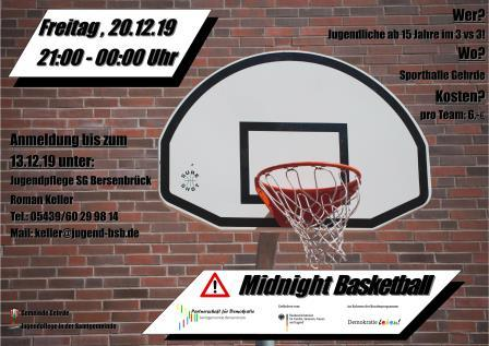 Midnight Basketball Flyer